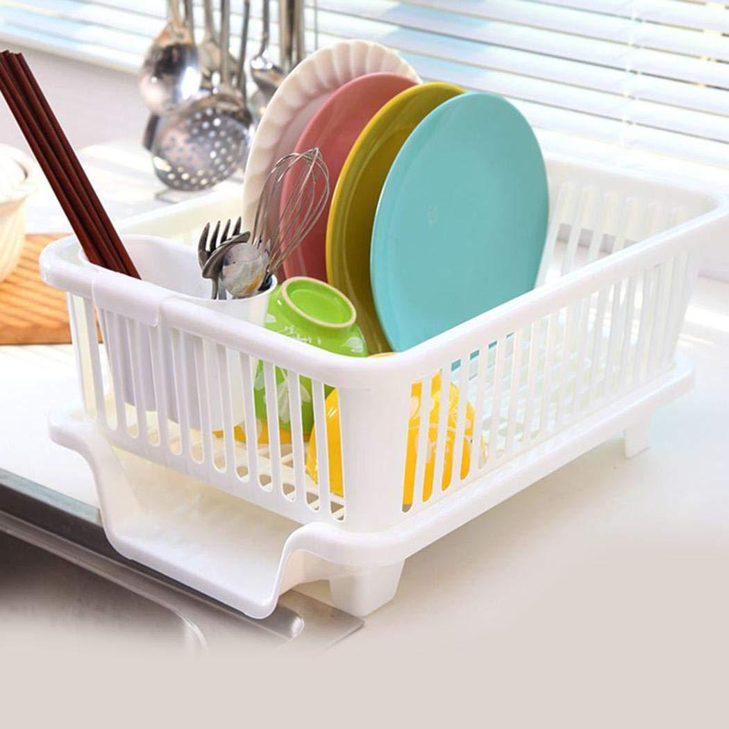 fnemo Organizzatore del canestro del Supporto dello stendino dello scolapiatti utensile del Piatto della Cucina Porta Utensili da Cucina