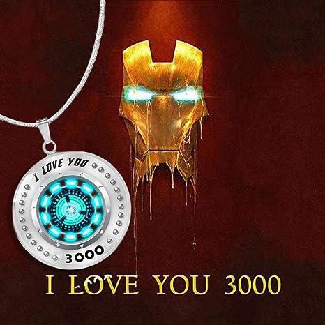 I love you 3000 Necklace 46 I love you 3000 Ironman arc reactor Tony Stark