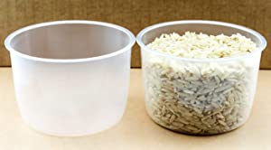 2 Pack Rice Measuring Cup Clear Bright Kitchen Brand Cooker Replacement Cup Plastic (2 Rice Cups)