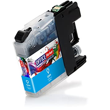 Cartucho de tinta compatible para Brother LC225 13 ml cyan con el chip, por ejemplo, para Brother DCP-J4120DW MFC-Ink, MFC-J4420DW 4-en-1, MFC-J4620DW ...