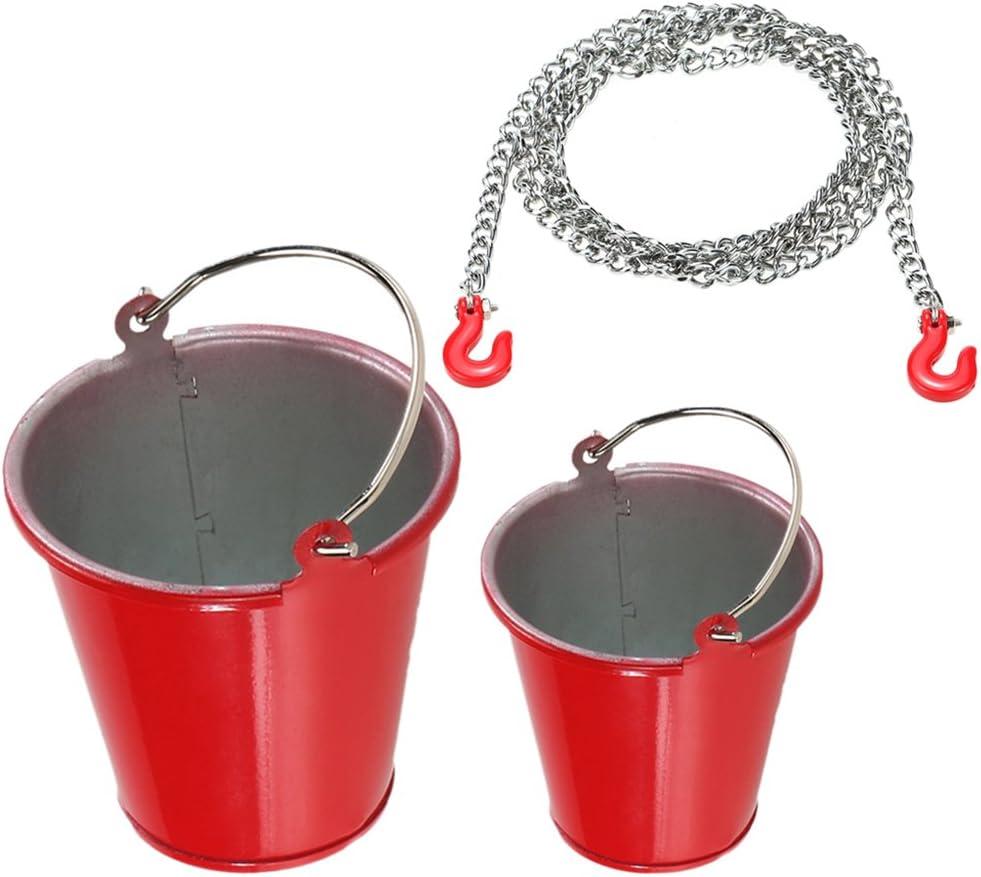 Gazechimp 2pcs Rock Crawler Bucket Eimer Tow Chain Trailer Haken Für 1 10 Scale Rc Auto Spielzeug