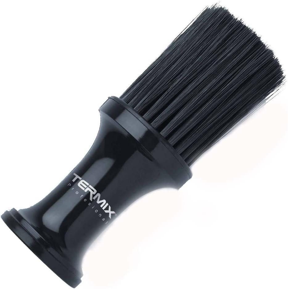 Termix Cepillo de talco profesional color negro y fibras negras. Cepillo con fibras suaves para trabajar con máxima limpieza