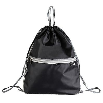 Beschoi Drawstring Backpack Bag, Waterproof Gym Sack Nylon Folding Bag for  PE School Home Travel 5918e7cca6