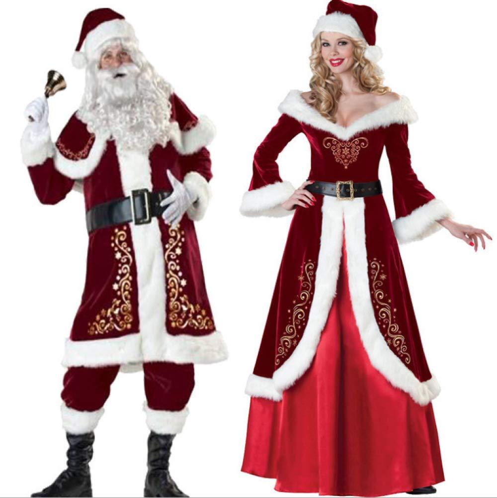 TUJHGF Weihnachtskostüm Cosplay Cosplay Cosplay Party Party Kostüm Uniform Paar Weihnachtsmann 592946