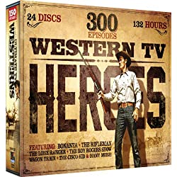 Western TV Heroes, Volume 1 - 300 Episode Collection: The Cisco Kid - Bonanza - The Lone Ranger - The Roy Rogers Show - Wagon Train - The Rifleman - Sergeant Preston of the Yukon - Annie Oakley and more!