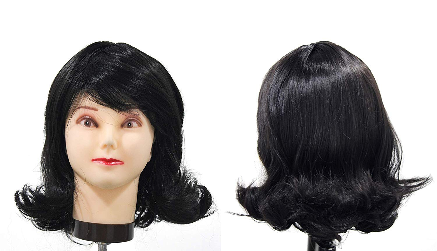 Glan Bob Wig For Women And Girls Short Hair Cut Wig For Wedding Party And Casual Use Black Pack Of 1 Amazon In Beauty