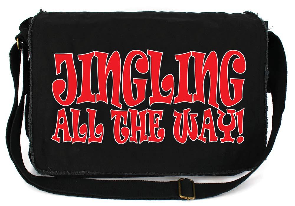 Tenacitee Jingling All The Way Royal Blue Brushed Canvas Messenger Bag