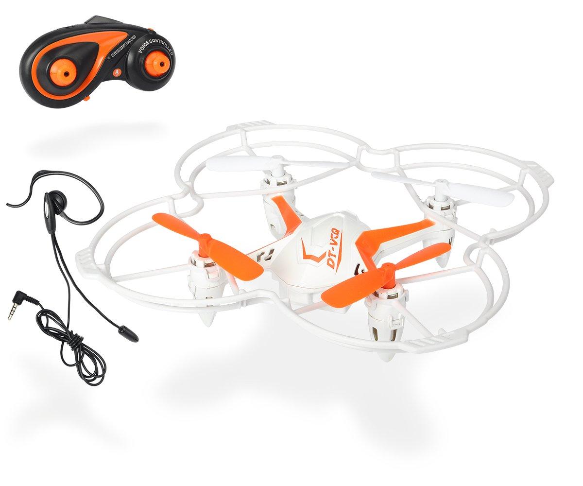 Dickie Toys 201119432 - RC DT VCQ-Voice Quadrocopter, funkferngesteuert mit Sprachsteuerung, 12 cm Dickie Spielzeug