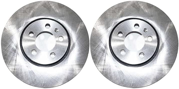 AutoShack R41529PR Front Brake Rotor Pair 2 Pieces Fits Driver and Passenger Side