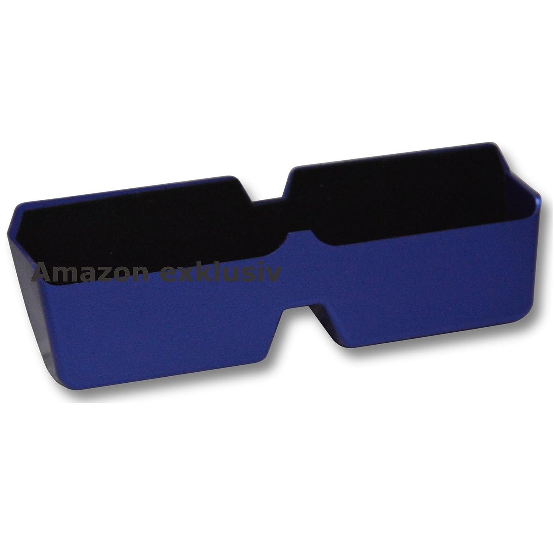 Auto KFZ Brillenablage SLIM BLUE Brillen Halter Halterung