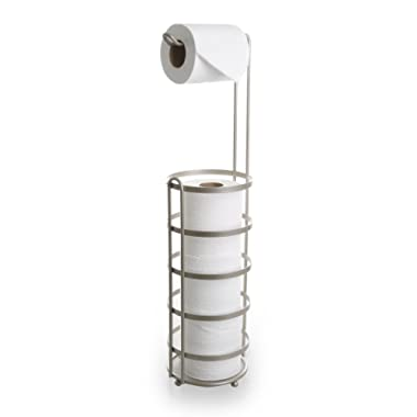 BINO 'Lafayette' Free Standing Toilet Paper Holder, Nickel
