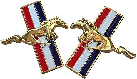 Ferrari Emblem Metal Horse Logo Car Silver Bumper Badge Left//Right Sticker Decal