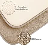 Memory Foam Bath Mat Non Slip Shower Rugs with Soft Comfortable Maximum Absorbency Bath Rug Washable Quickly Drying Bathroom Rugs Carpet