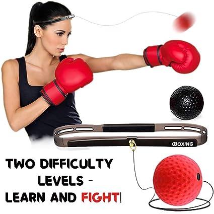 Boxing Reflex Ball Set Punching 4 Difficulty Level Training Balls On String
