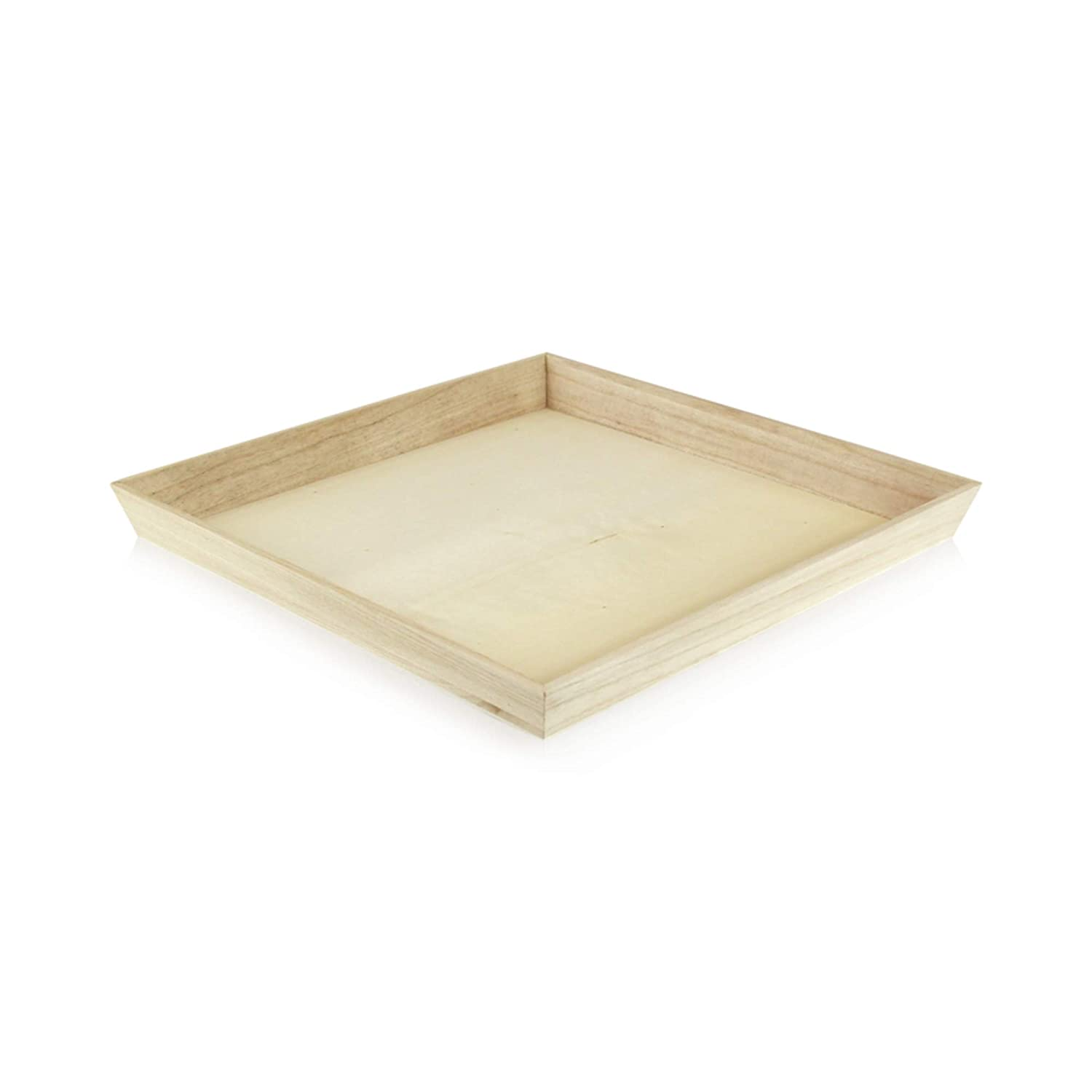 Noah31 Heavy Duty Wooden Tray (Case of 10), PacknWood - Biodegradable Serving Wood Table Trays (13.75