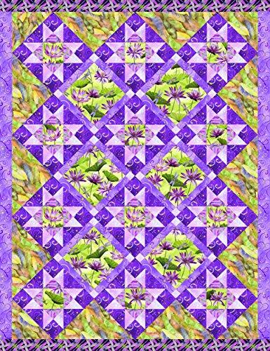 Dazzling Dragonflies Quilt Kit by Benartex Studios (Purple)