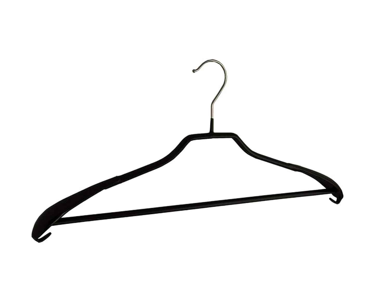 Der Kleiderb/ügelriese 20 x Jacken//Kost/ümb/ügel schwarz 50 cm