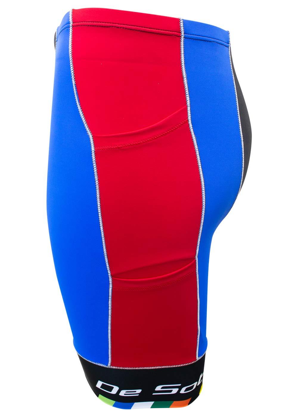 De Soto Mobius Tri Short 4-Pocket (Red/Blue), Small by De Soto (Image #2)