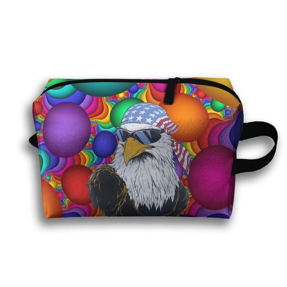 USA Mullet Eagle Travel Bag Multifunction Portable Toiletry Bag Organizer Storage