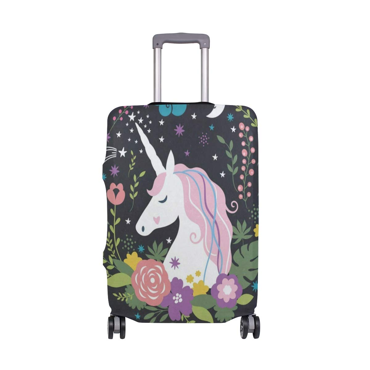 Fashion Travel Anchor Violet Luggage Suitcase Protector Washable Baggage Covers