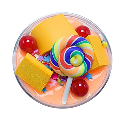 UOFOCO Fluffy Cute Lollipop Butter Slime DIY Stress Relief Children Kid Funny Toy Gift: Toys & Games