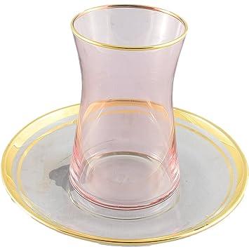 Juego de té turco de 2 tazas, vasos de té marroquí, tazas de té