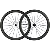 Queen Bike Carbon Fiber Road Bike Wheels 50mm Clincher Wheelset 700c Racing Bike Wheel