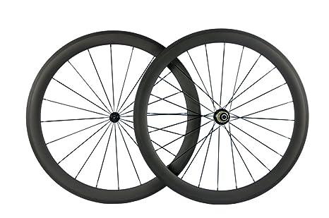 Review Queen Bike Carbon Fiber Road Bike Wheels 50mm Clincher Wheelset 700c Racing Bike Wheel