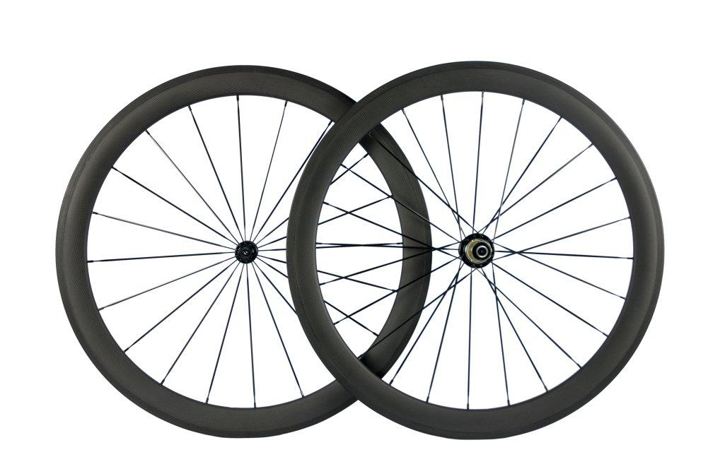 Superteam Carbon Fiber Road Bike Wheels 50mm Clincher Wheelset 700c Racing Bike Wheel (Shimano Body)