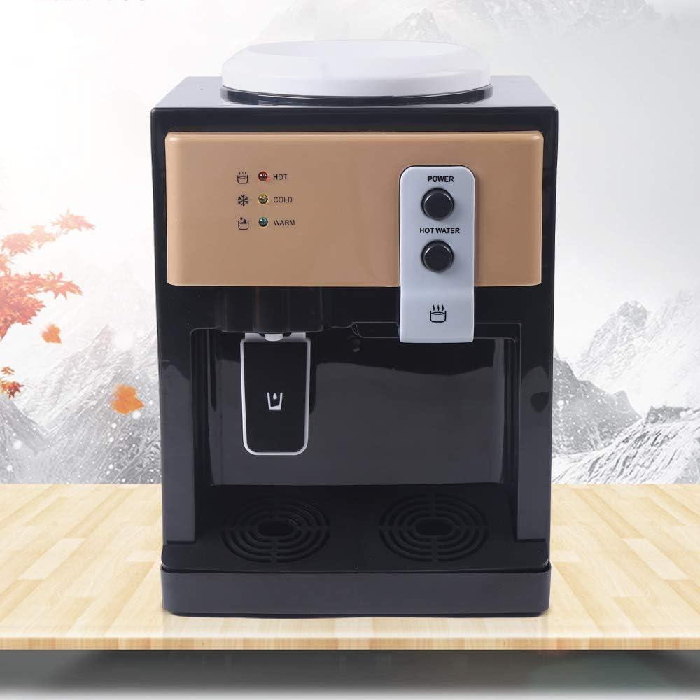 WINUS Electric Water Dispenser, Desktop Electric Hot/Cold Water Cooler Dispenser, Electric Hot and Cold Water Cooler Dispenser for Home Office Use 110V (Brown)