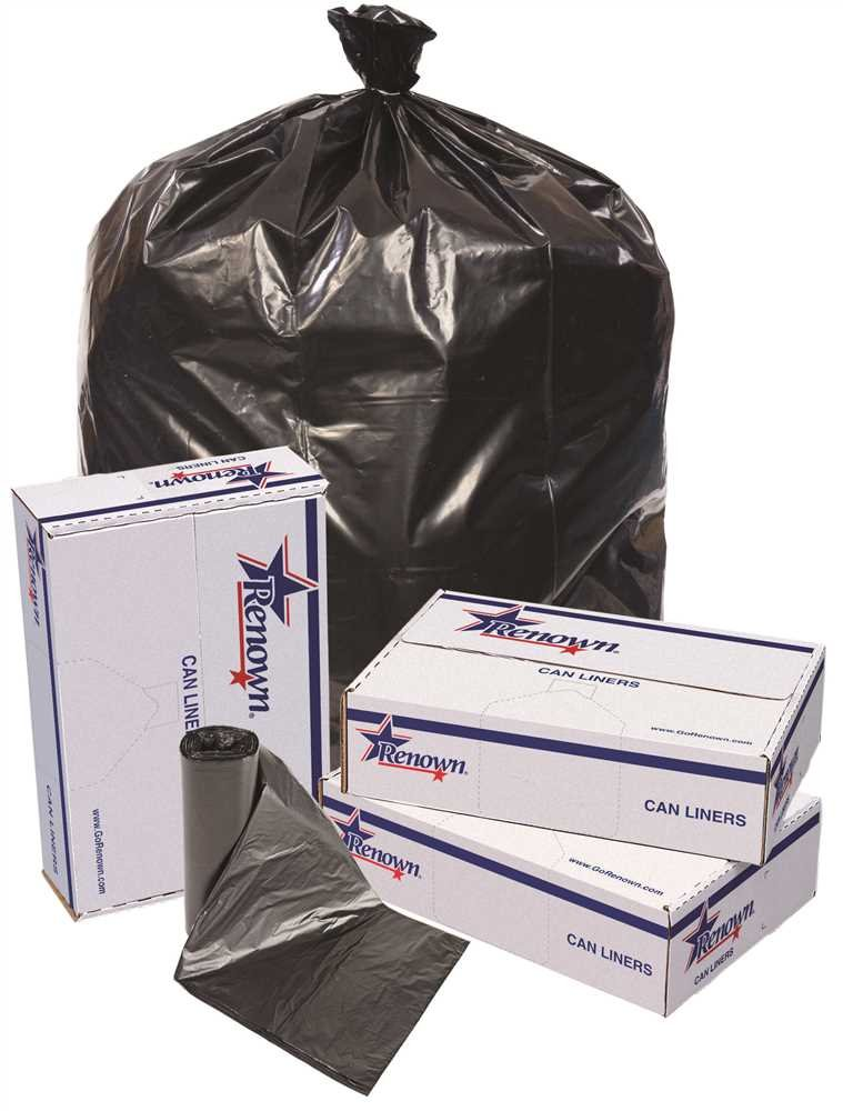 RENOWN GIDDS-2478856 Renown Trash Can Liners, Black, 38 x 58, 1.7ml, 10 Liners Per Roll, 10 Rolls Per Case