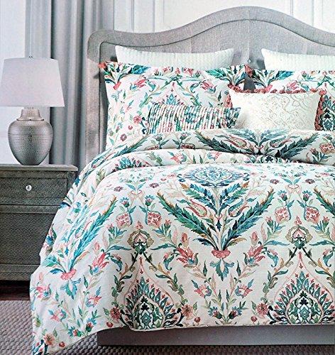 Tahari Floral Folklore Watercolor Duvet Cover 3 Piece Bed...
