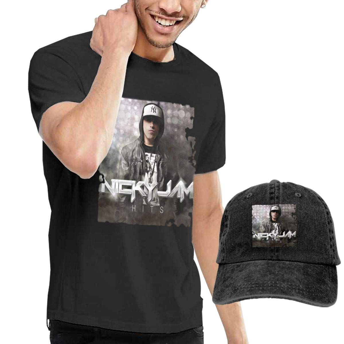 Rosetta Sandy Camisetas de Hombre Nicky Jam Hits y Gorra de ...