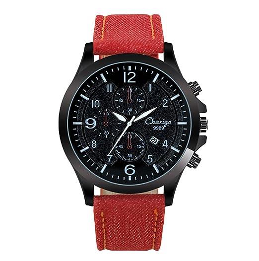Los relojes de los hombres de moda casual Chaxigo resistente al agua reloj pointerquartz: Chaxigo: Amazon.es: Relojes