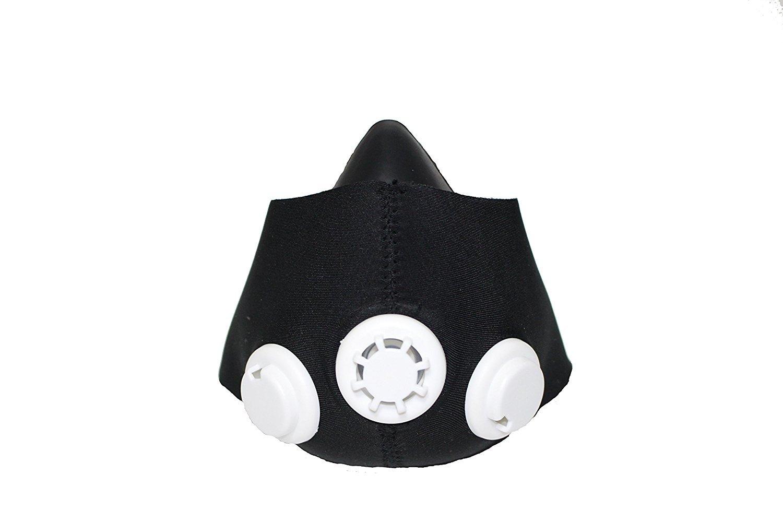 OJT Sports - Máscara de Entrenamiento Deportivo 2.0 con Simulación de Altitud hasta 5500 Metros para Mejorar la Condición Física, Talla M, Color Negro: ...
