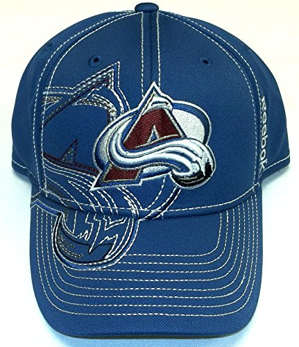Colorado Avalanche Reebok NHL Draft Stitch Structured FlexFit Hat Cap S/M - M250Z