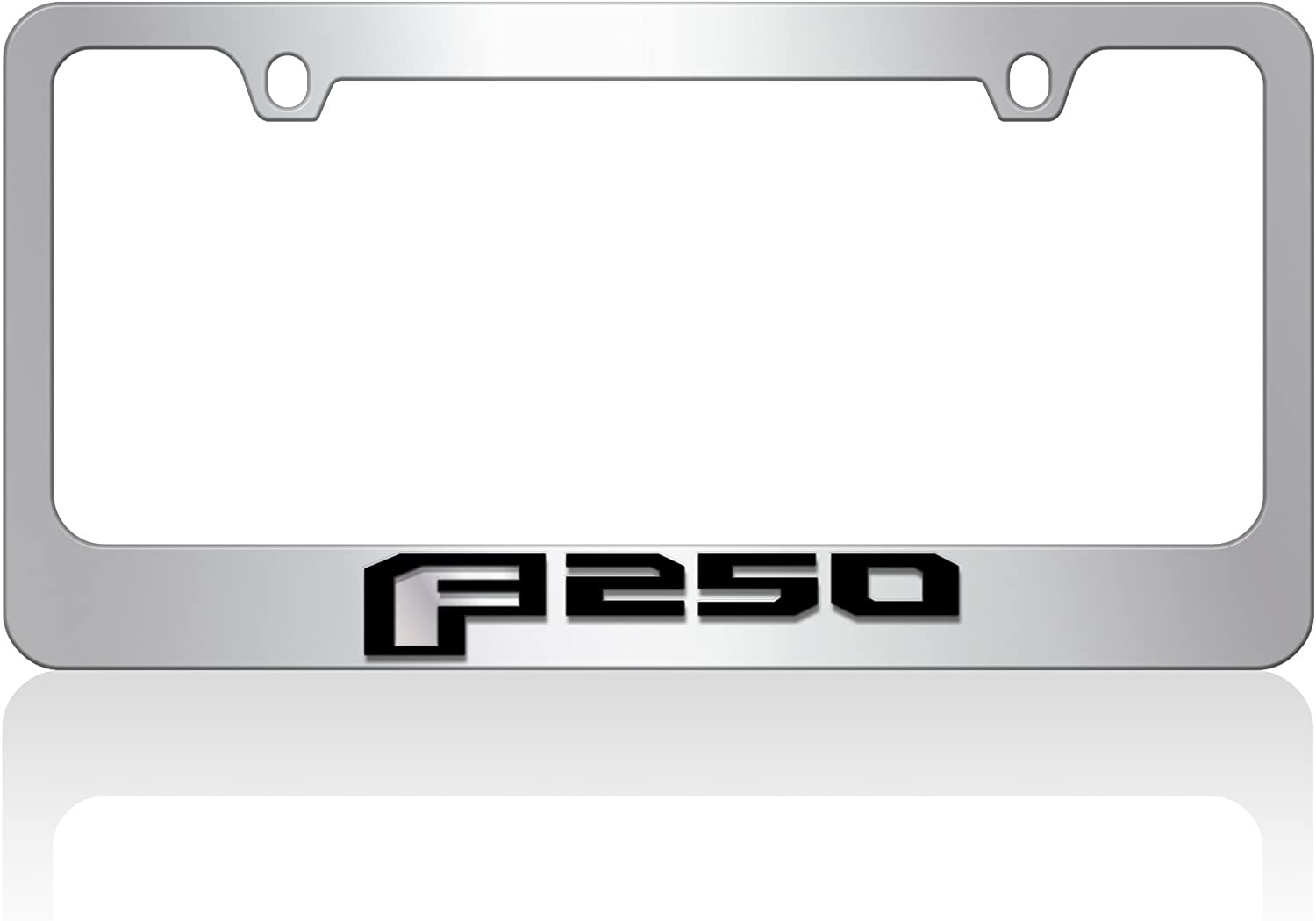 2015 Ford F-250 Eurosport Daytona- Compatible with - Mirror F Black Word Chrome License Plate Frame