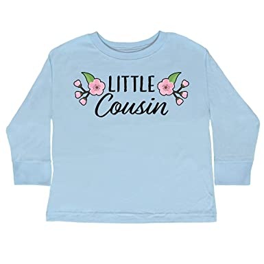 cdf728c05 Amazon.com  inktastic - Little Cousin with Cherry Blossom Toddler Long  Sleeve T-Shirt 341a0  Clothing