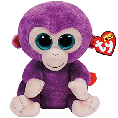 Ty Beanie Boos Grapes The Purple Monkey Plush: Toys & Games