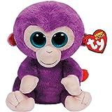 Ty 37045Glitter Eye Pink Grapes Buddy–Monkey, Stuffed Toy, 24cm, Purple