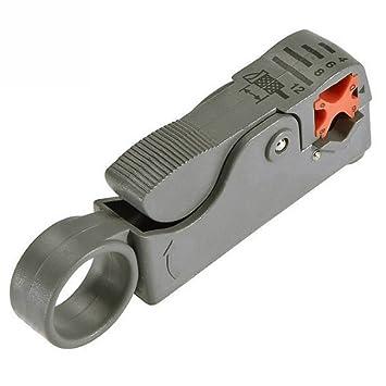 Cortador para Cable Coaxial AZXES,Herramienta Manuales para Quitar Cable RG58 RG6 RG 58/59/62/6 / 6QS / 3C / 4C / 5C,: Amazon.es: Bricolaje y herramientas