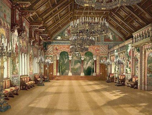 Vintage Travel Poster - Music room Neuschwanstein Castle Upper Bavaria German...