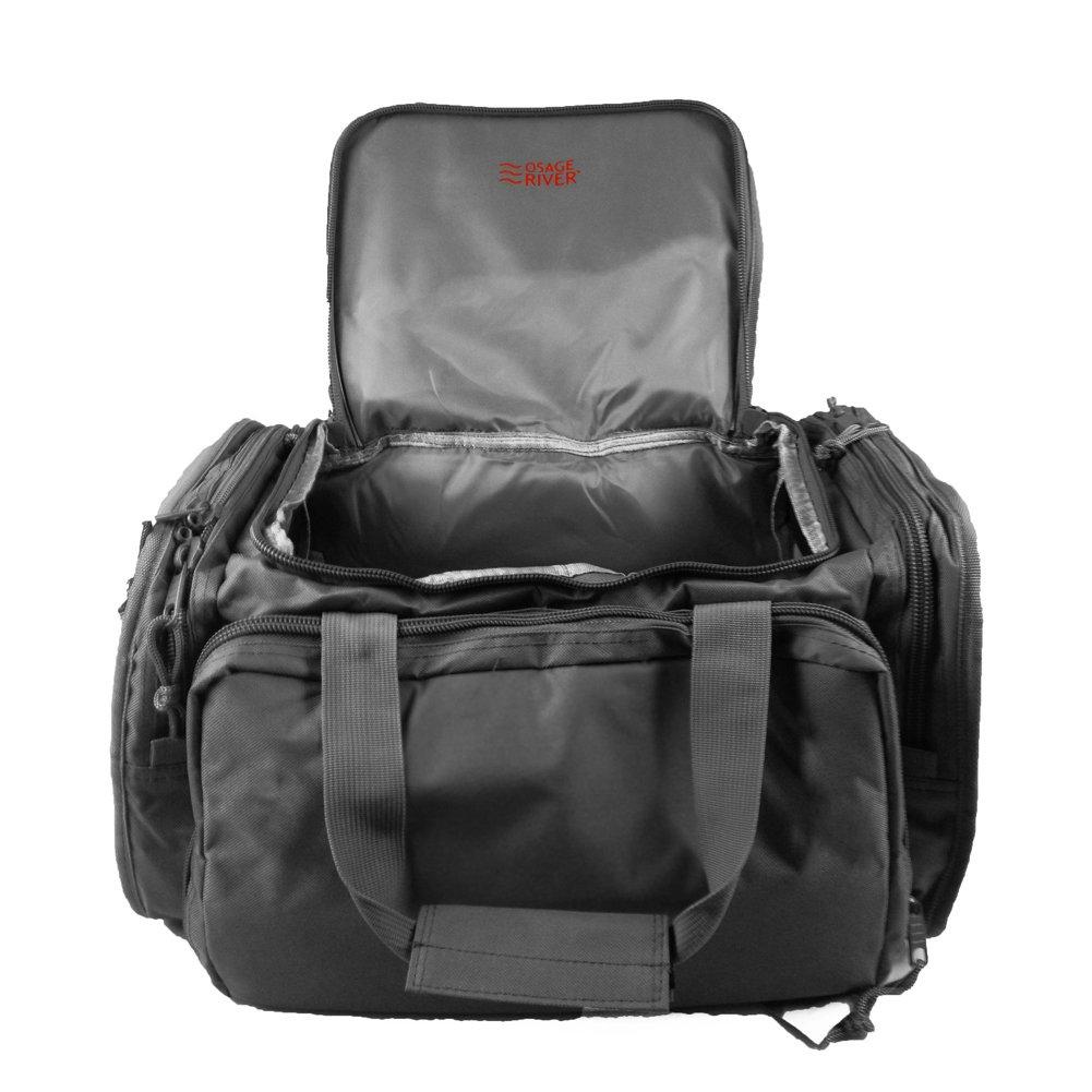 Osage River Tactical Shooting Gun Range Bag (Black, Standard (18 x 13 x 10) Inches)
