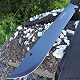 "19"" TACTICAL SURVIVAL Fixed Blade BLACK MACHETE"