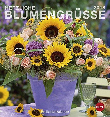 Blumengrüße Postkartenkalender - Kalender 2018