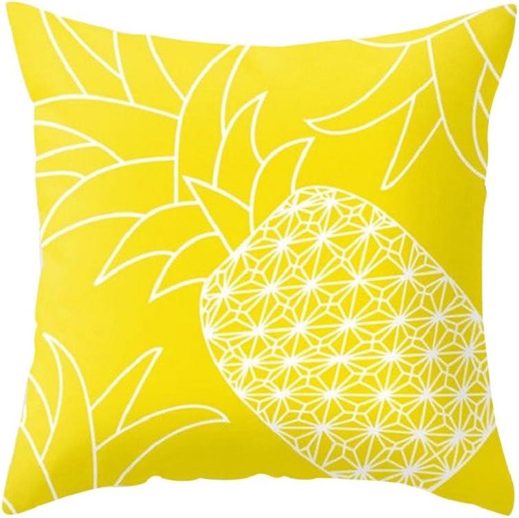 Housse de coussin jaune avec Ananas