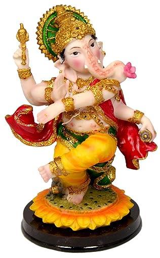 Dancing Ganesh 7.5 Statue Enchanting Ganapati Murti Golu Doll