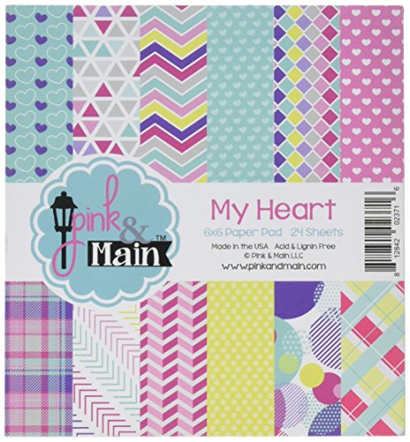 Heart Double Sided Paper (Pink & Main My Heart Double-Sided Paper Pad 6