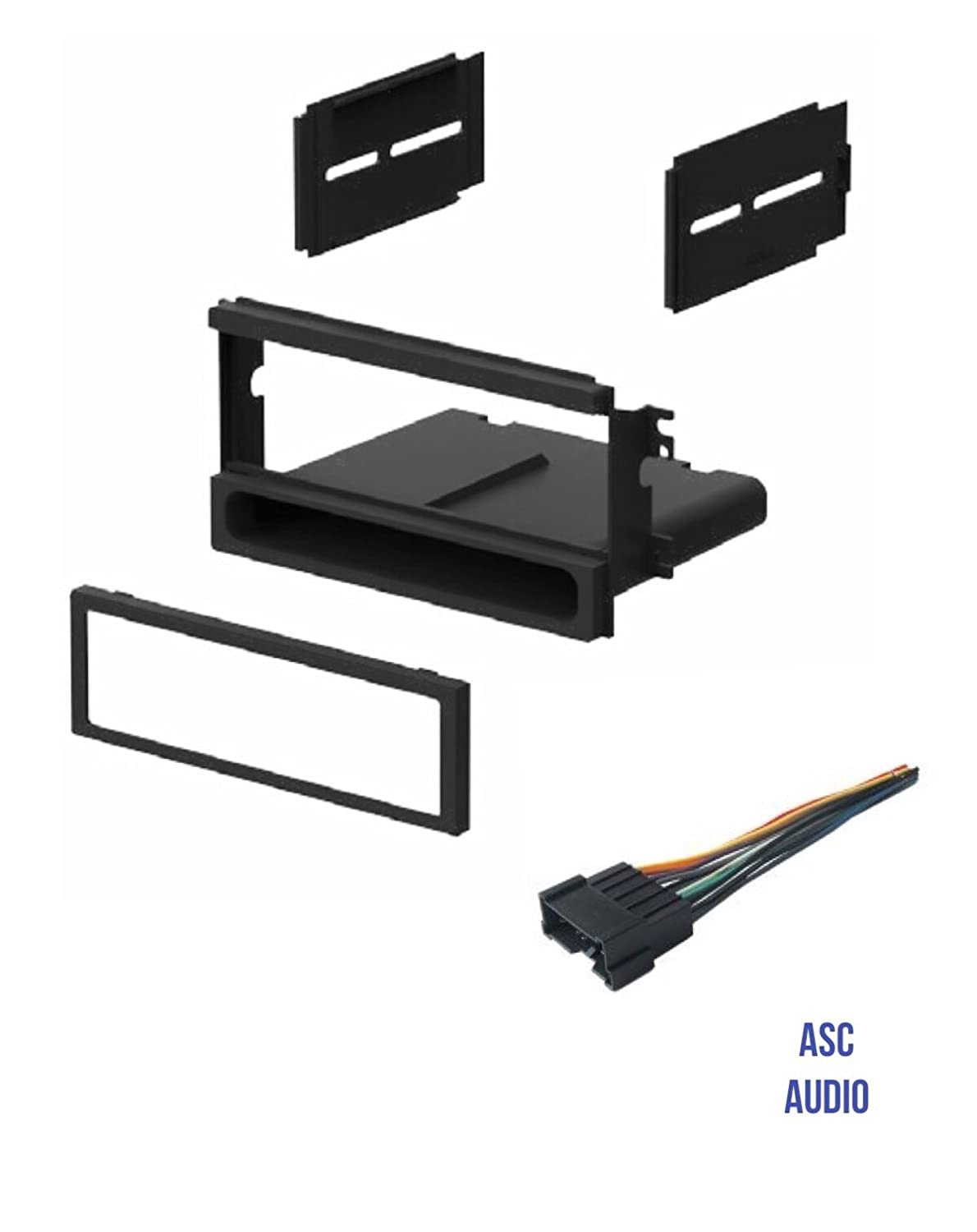 ASC Car Stereo Install Dash Kit and Wire Harness for installing an Aftermarket Single Din Radio for 2003 2004 2005 2006 Kia Sorento LX No Sport Package Other