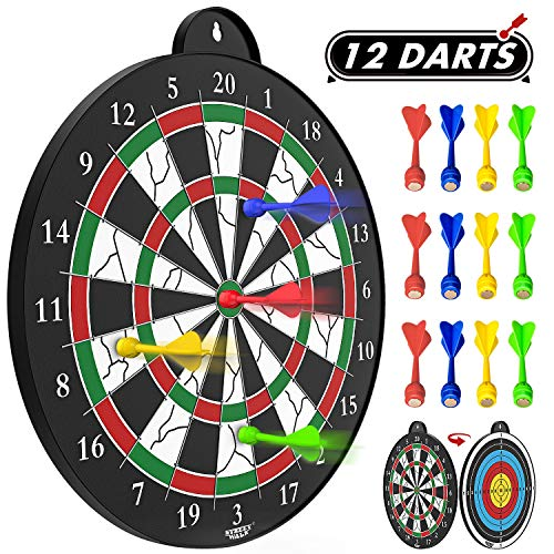 Magnetic Dart Board - 12pcs Magnetic dart - Excellent Indoor Game and Party Games - Magnetic Dart Board for kids and Adult from STREET WALK